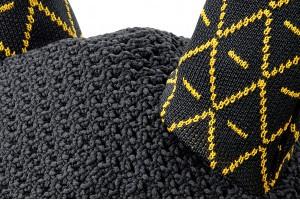 Tacante Bonnet INFI KNIT noir allover jaune zoom