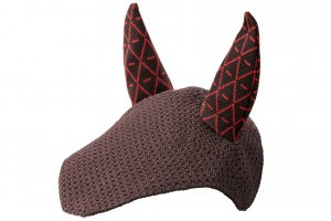 Tacante Bonnet INFI KNIT marron allover rouge face