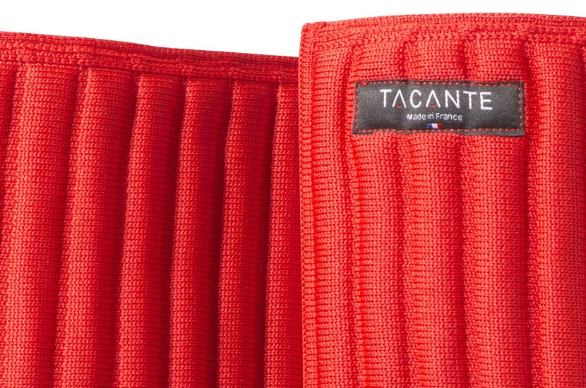 Tacante Flanelles sous bandes INFI-KNIT rouge zoom maille