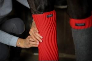 Tacante Flanelles sous bandes INFI-KNIT rouge porté