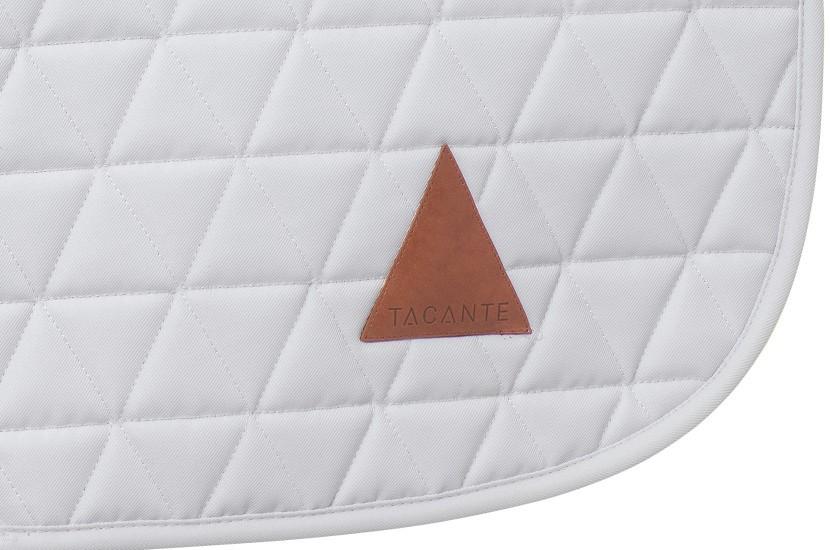 Tacante Tapis de selle EXCEL-ANSE mixte blanc zoom écusson