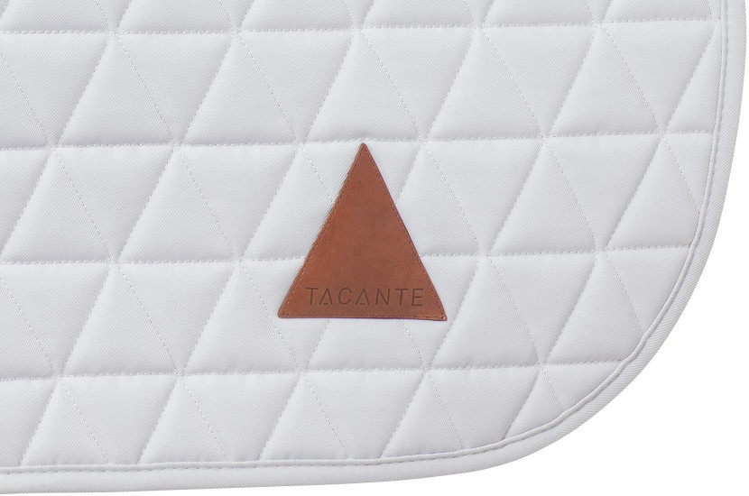 Tacante Tapis de selle EXCEL-ANSE dressage blanc zoom écusson