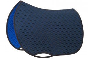 Tacante Tapis de selle INFI KNIT mixte bleu marine et bleu roi.jpg