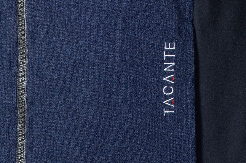 Tacante veste Hygge Homme blue marine Zoom broderie
