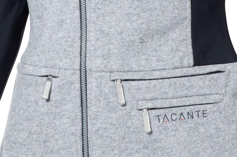 Tacante veste Hygge gris souris femme zoom poche