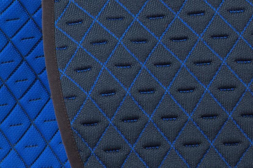 Tacante Tapis de selle INFI KNIT bleu marine et bleu roi zoom