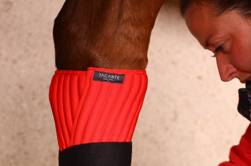 Tacante cotons INFI-KNIT rouges made in France