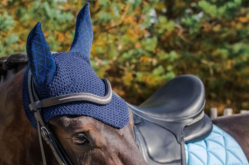 Tacante bonnet INFI-KNIT bleu marine all over bleu roi