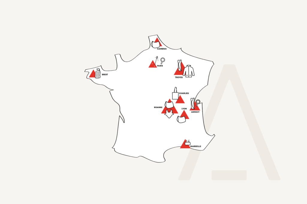 La carte de France Tacante