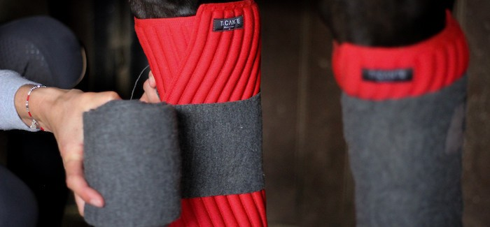 3D-knitted and environmentally responsible INFI-KNIT under bandages leg wraps