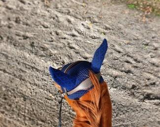 [INSTANT PRODUIT] Le bonnet INFI-KNIT bleu Marine all-over bleu roi est un grand classique de la gamme ! Il s'associe parfaitement à nos tapis de selle EXCEL-ANSE bleu marine, bleu roi et INFI-KNIT bleu 👌 Écoresponsable, il contient 47% de polyester recyclé Newlife soit 3 bouteilles en plastique 🌿🐎  🇬🇧INFI-KNIT ear net navy blue with royal blue